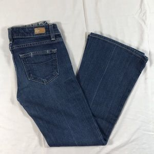PAIGE Petite Robertson relaxed wide leg jeans 25